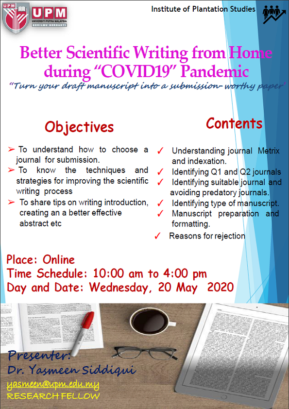 Better Scientific Writing from Home during 'COVID19' Pandemic