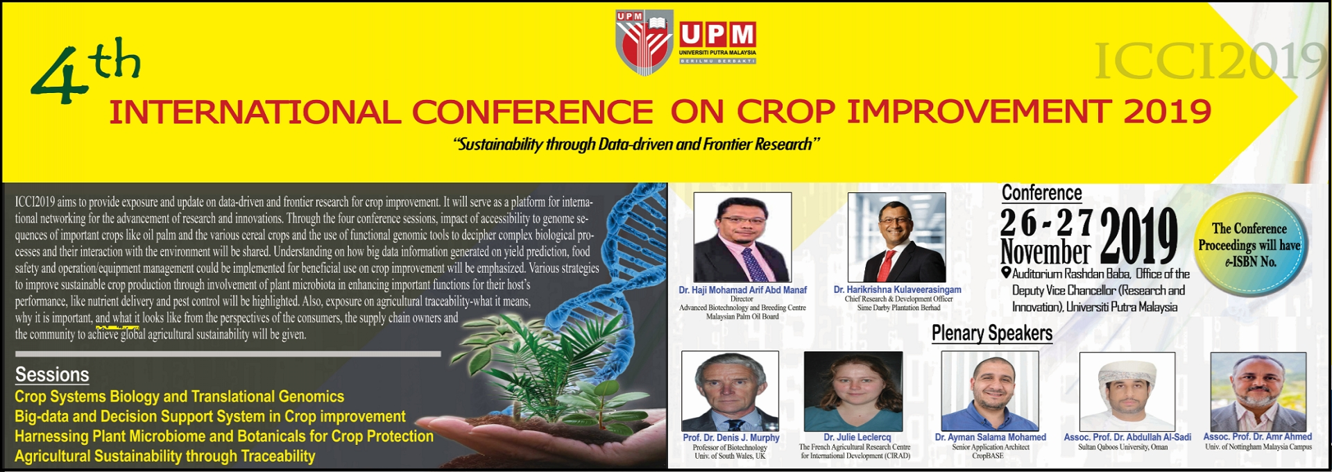 FOURTH INTERNATIONAL CONFERENCE ON CROP IMPROVEMENT (ICCI2019)